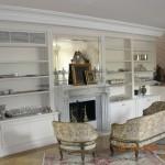 Salotto classico bianco realizzato dalla falegnameria rd arredamenti