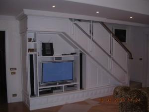 Mobile TV sottoscala falegnameria RD Arredamenti Roma