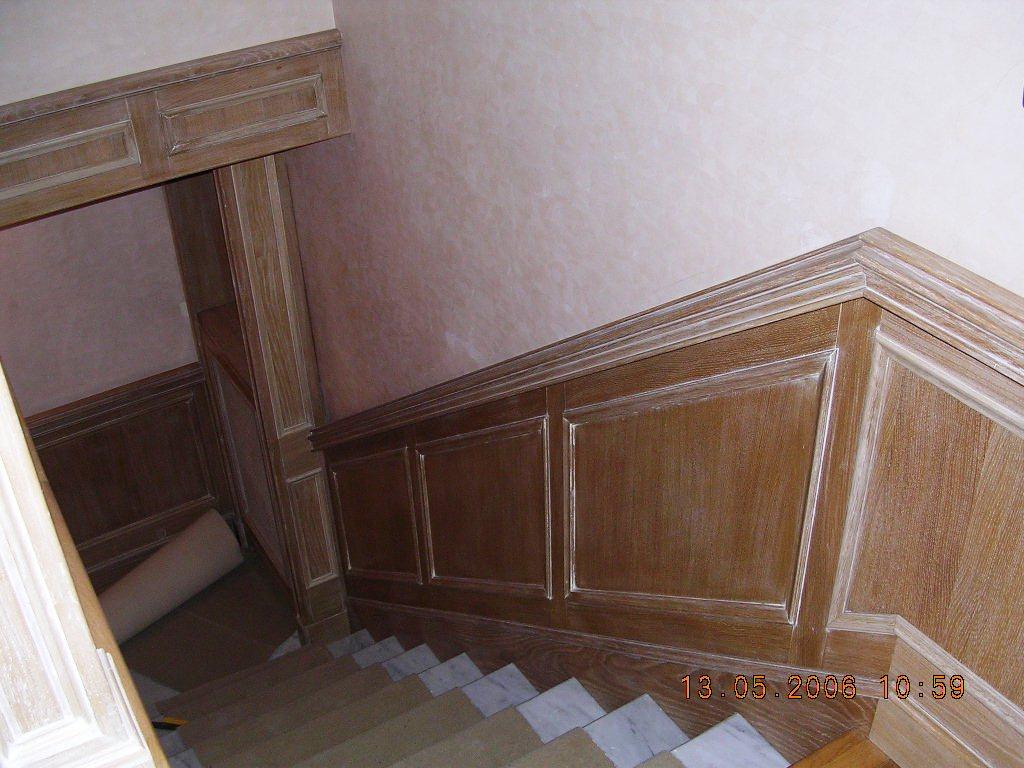 Scala in legno rovere sbiancato falegnameria rd arredamenti di roma falegnameria rd - Mobili rovere sbiancato ...