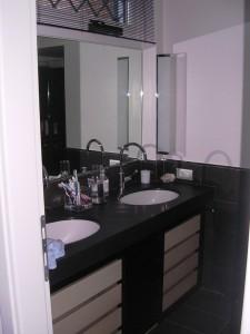 mobiletto con doppio lavabo stile moderno | falegnameria rd ... - Bagni Moderni Con Doppio Lavabo