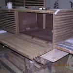 Mobile TV in costruzione presso la falegnameria rd arredamenti di roma