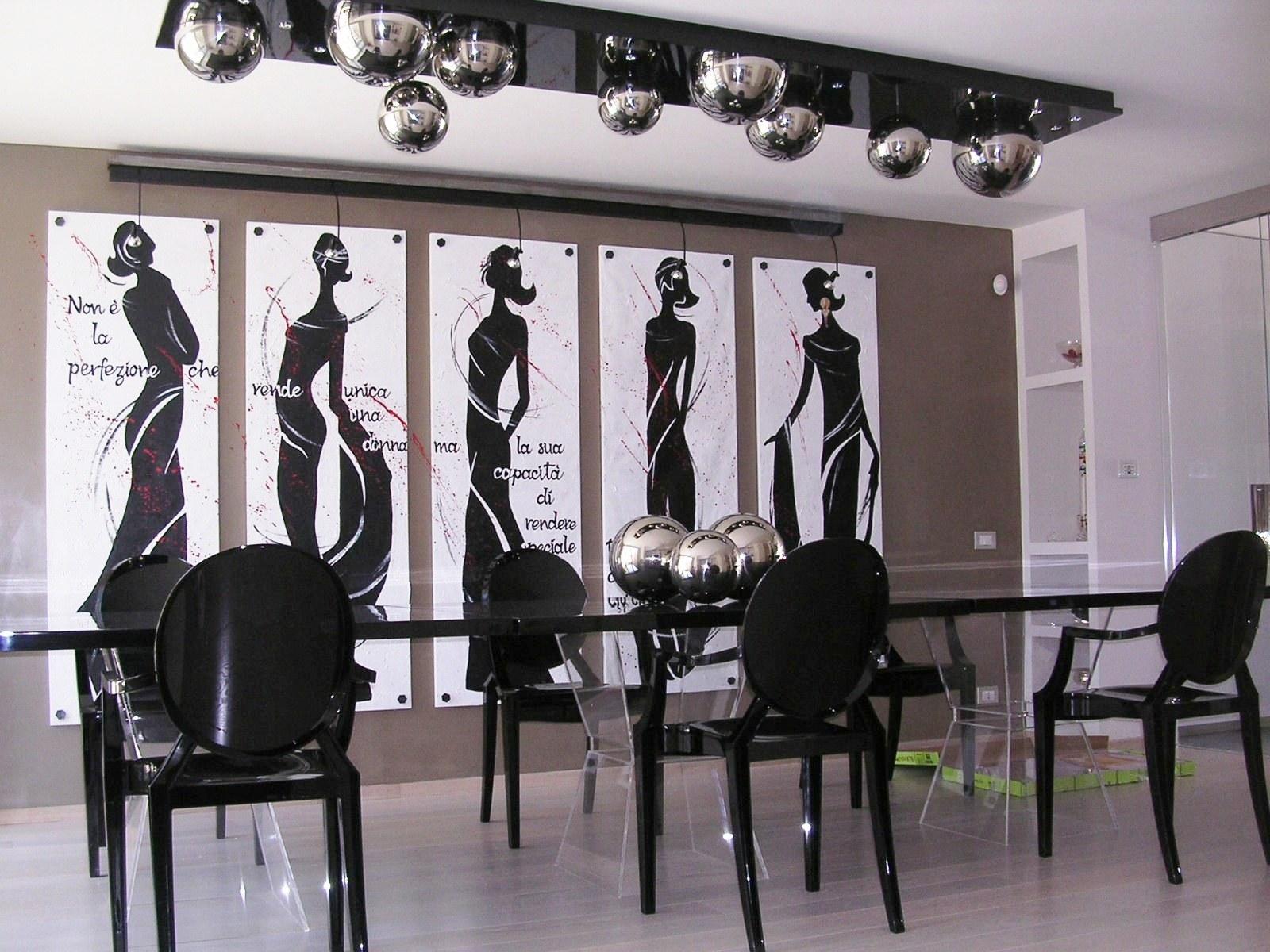 Pannello decorativo e lampadario disegno orietta mosca - Pannelli decorativi fai da te ...