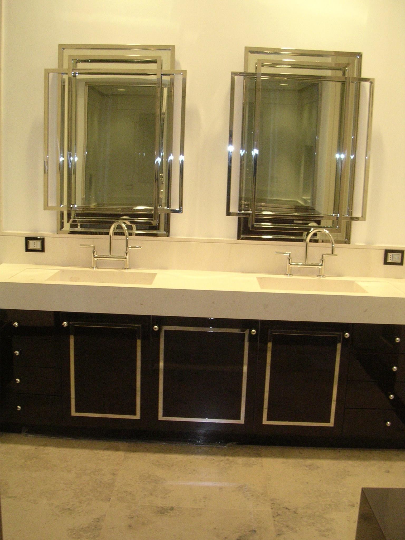 Arredo bagno falegnameria rd arredamenti s r l roma armadi su misura cucine componibili - Mobile bagno doppio lavello ...